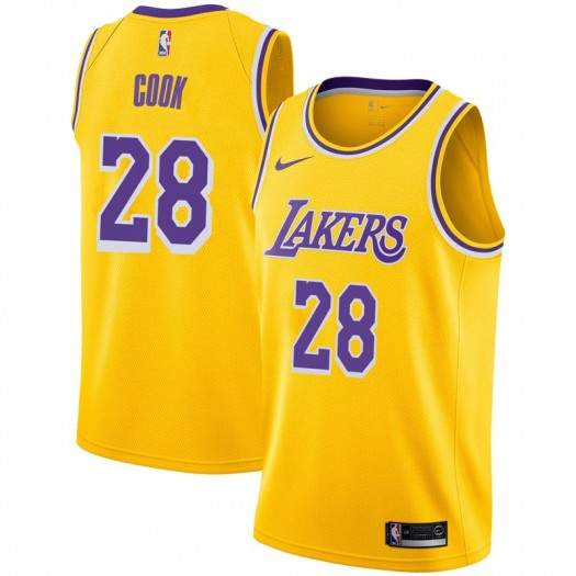 Men's Quinn Cook Los Angeles Lakers Nike Swingman Gold 2018/19 Jersey - Icon Edition
