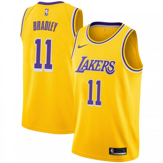 Youth Avery Bradley Los Angeles Lakers Nike Swingman Gold 2018/19 Jersey - Icon Edition