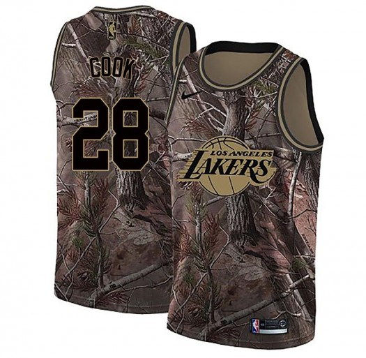 Youth Quinn Cook Los Angeles Lakers Nike Swingman Camo Realtree Collection Jersey