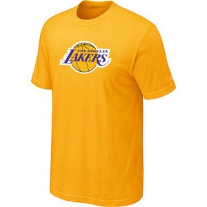 Men's Los Angeles Lakers Yellow Big & Tall Primary Logo T-Shirt -