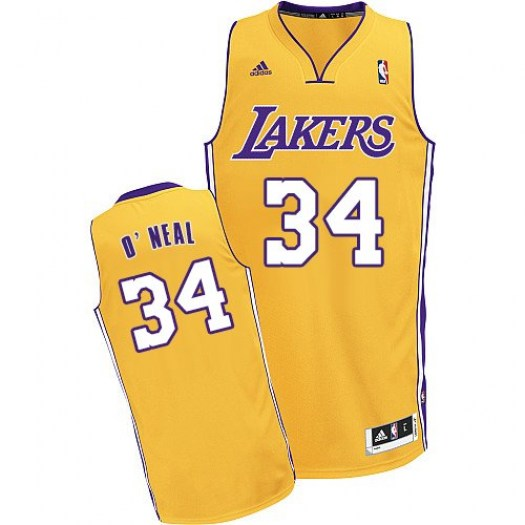 Men's Shaquille O'Neal Los Angeles Lakers Adidas Swingman Gold Home Jersey
